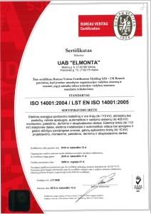 ISO 14001 sertifikatas